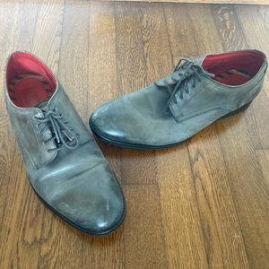Base London Slate Gray Lace Up Dress Derbys Loafer